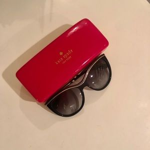 Kate Spade Black Sunglasses + Case